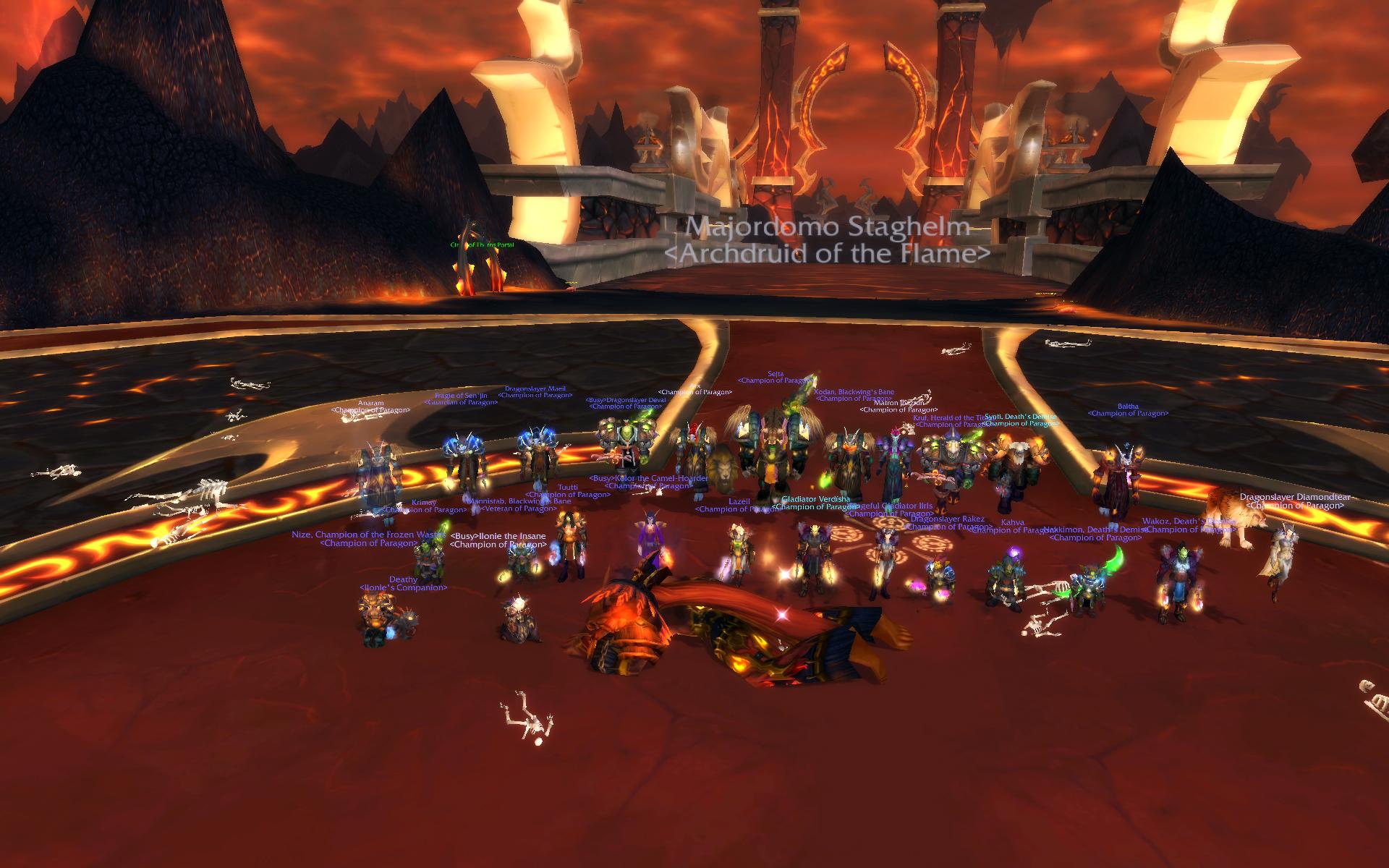 La guilde Paragon est première dans le monde avec 6 boss sur 7 vaincus !